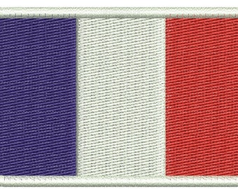 France flag embroidery design - Machine Embroidery Design instantly download