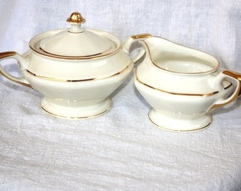 Vintage Rosenthal Continental Ivory Germany 18 Creamer and Sugar Bowl