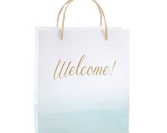 12 Beach Tides Welcome Bags Beach Theme Wedding Gift Bags Bridal Shower Gift Bags Bridesmaid Gifts