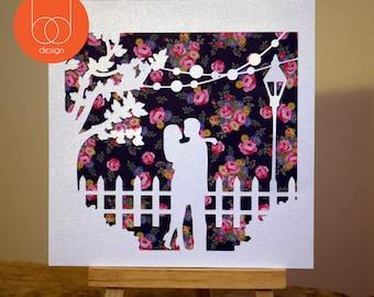 Romantic Valentines Day Handmade Card