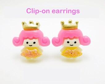 Princess clip-on earrings for children