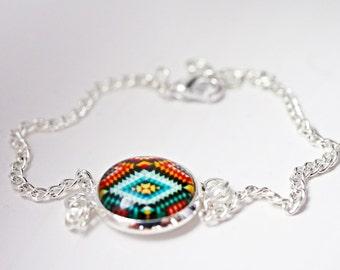 Moroccan cabochon bracelet