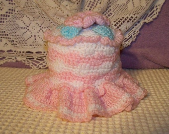 Crocheted Toilet Tissue Cover - Cecelia-Marie 238