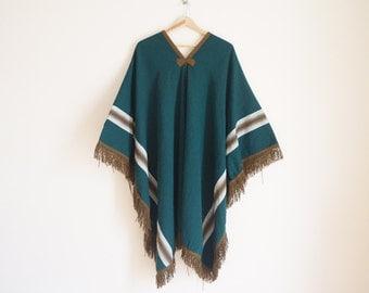 Vintage 1970s Poncho