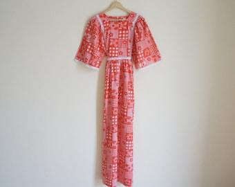 Vintage Summer Dress / Vintage Long Dress