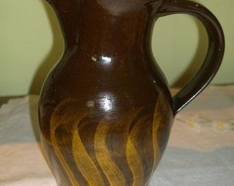Minehead Pottery jug sun ray flames