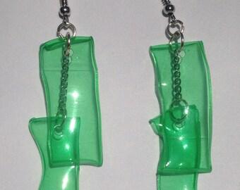 Upcycled bottle earrings
