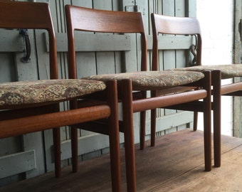 Vintage British Mid Century Chairs by Dalescraft.  Simple and elegant set of four