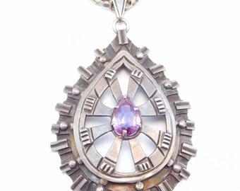 Heavy Older Ballesteros Mexican Silver Necklace
