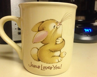 "Jesus Loves You! Jesus Loves Me! Bunny"" Mug Mates"" Mug"