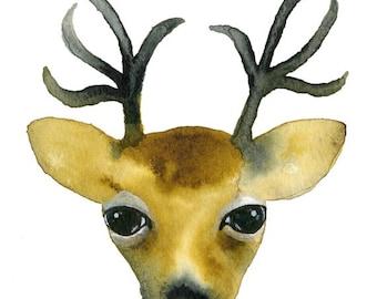 Reindeer Card, Reindeer Art, Reindeer, Christmas Cards, Greeting Cards, Note Cards, Art Cards, Blank Cards, Caribou, North Pole, Santa Claus