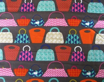 Purses Galore Fabric by Michael Miller Handbags Pocketbooks CX6004 Cotton By the yard