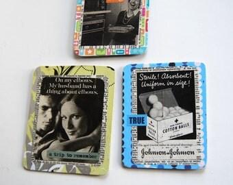 Vintage Handcrafted Magnets, Fridge Art