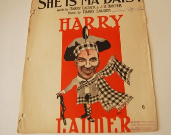 Vintage Sheet Music, She is Ma Daisy