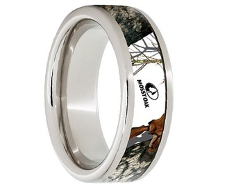 serinium wedding bandserinium wedding ringcamouflage inlaymossy oak8mm - Mossy Oak Wedding Rings