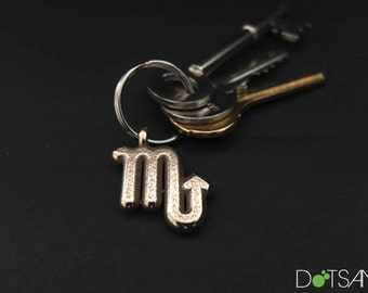 Scorpio, Astrology, Zodiac, Star Sign, 3D Printed, Keychain