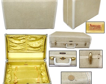 1950s Samsonite Luggage / Pin-up Luggage / Rockabilly Suitcase / Retro Suitcase