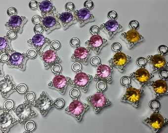 Gem Stone Charms, Charms, Jewellery supplies, Craft supplies, Hobby supplies, Jewellery making,