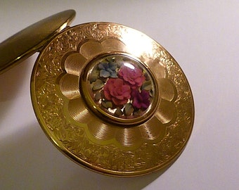 Vintage Kigu LUCITE GLITTER compact vintage bridesmaids gifts pocket mirrors 1950s retro gifts for her