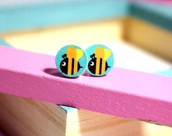 Ear plug * bee * wood