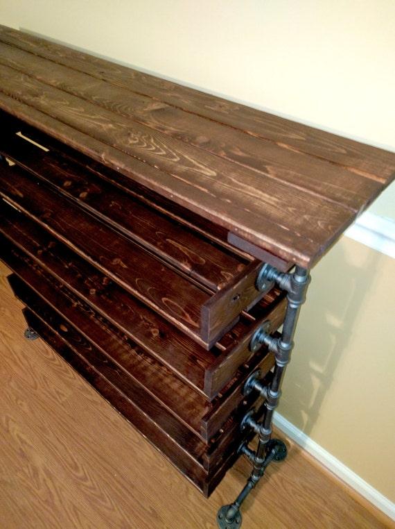 Handmade Reclaimed Wood Shoe Stand With Top Shelf Rack