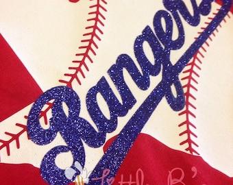 Texas Rangers Shirt | Texas Baseball | Texas Rangers Glitter | Texas Rangers | Baseball | Texas