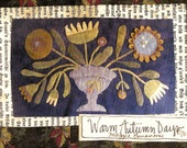 Primitive Wool Applique Pattern - Warm Autumn Days by Maggie Bonanomi