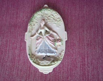 Bisque Wall Plaque Occupied Japan