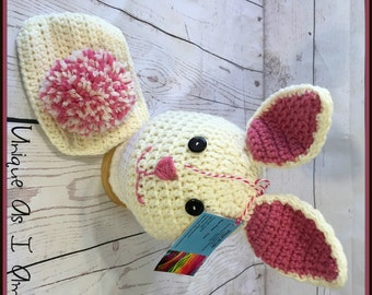 Crochet Baby Bunny Hat and Diaper Cover/Photo Prop