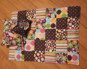 American girl quilt and pillows