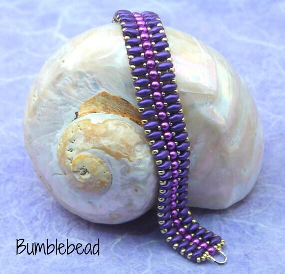Zipper Bracelet Tutorial - A Beadweaving Pattern
