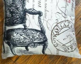 """Pillow Paris Inspired Handmade 18"""" x 18"""""""