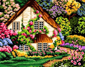 Hidden Away -Cross Stitch Pdf Pattern