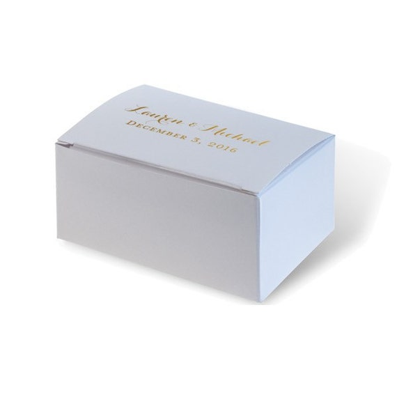 wedding cake boxes personalized wedding favor cake box with personalized foil imprint of 22068