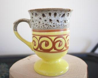 MUG Vintage CERAMIC Mug Coffee Cup RETRO 70s style Coffee Cup mug