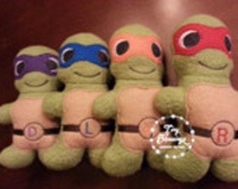 Ninja Turtles Plush, Plush Toys,  Handmade, Soft Toy, Softie, Stuffed Doll, Doll