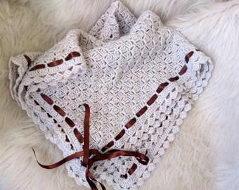 C2C Baby blanket, Crochet baby blanket, woodland nursery, baby shower gift, stroller blanket, pram blanket, newborn gift, baby boy blanket