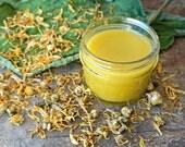 Calendula salve, eczema salve, natural comfrey salve, dry skin salve, organic herbal salve, psoriasis cream, baby rash, green goop, itchy