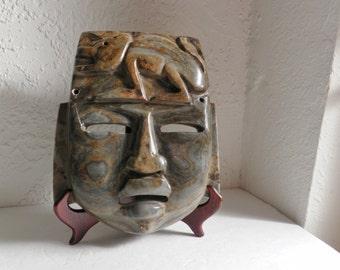 Stone Mask Mayan Aztec Design Mexico