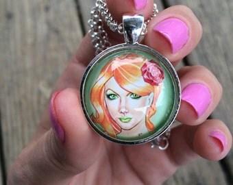Poison Ivy Pendant Necklace