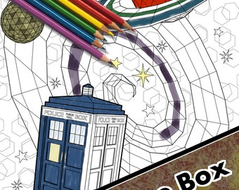 The Blue Box - Coloring Page