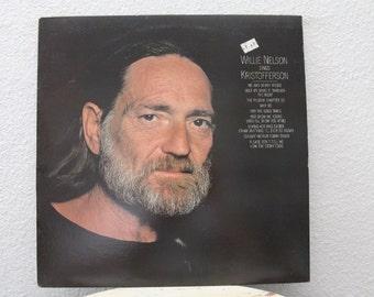 "Willie Nelson - ""Willie Nelson Sings Kristofferson"" vinyl record"