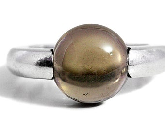 Smoky Quartz Ring Gemstone Silver