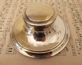 Vintage Inkwell, Antique Inkwell, Desk Ink Well, Italian Inkwell, 1920s