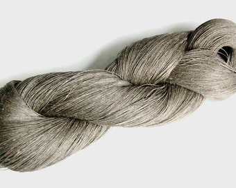 Linen yarn, pure flax yarn, natural Lithuanian flax linen yarn for any crafts, flax linen, raw linen yarn, grey linen yarn, raw linen yarn