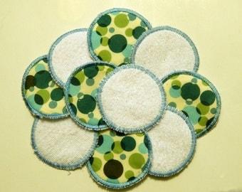 """Set Of 10 Reusable 3"""" Facial Rounds, Cotton Pads, Cotton Rounds Reusable Makeup Pad, Cosmetic Round, Reusable Facial Pad, Face Scrubbie"""
