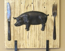 Unique Pig Towel Holder Related Items Etsy