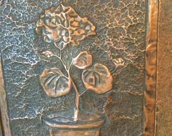 Vintage Hammered Copper Wall Art