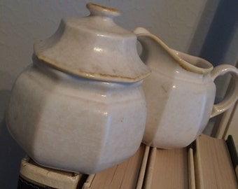 Vintage Mikasa Avante sugar bowl and creamer