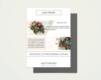 Guide tarifaire - marketing - Photographe - Graphique et design